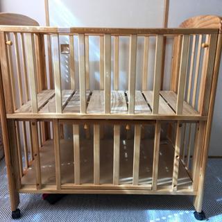 ミニベビーベッド 木製
