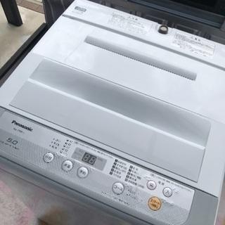 2018年製パナソニック全自動洗濯機容量5キロ美品。千葉県内配送...