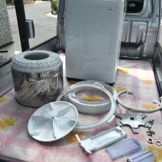 2018年製パナソニック全自動洗濯機容量5キロ美品。千葉県内配送無料。設置無料。 - 家電