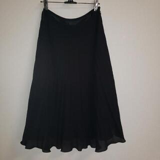 プリーツスカート 黒