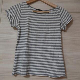 cantwo ボーダーTシャツ グレー