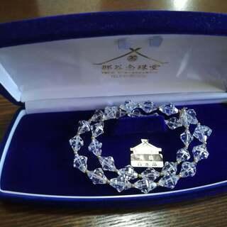 ◆英雅堂◆天然白水晶ネックレス◆留め具14K◆保証書付き◆