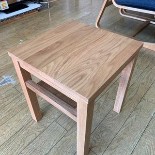 美品! 無印良品 オーク材 サイドテーブルベンチ