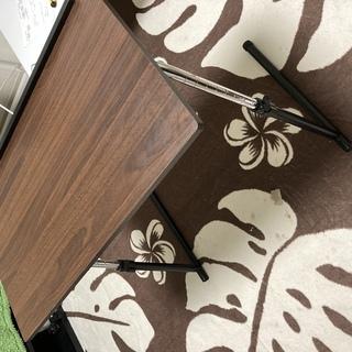サイドテーブル 折りたたみ 昇降式 角度調節可能 木製 つくえ ...