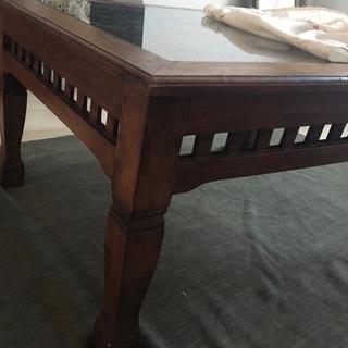 アンティーク 机 ローテーブル タイ バリ アジアン家具
