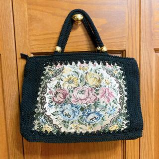 【新品】薔薇の刺繍 ハンドバッグ