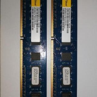 デスクトップ用メモリ 2GB x 2枚