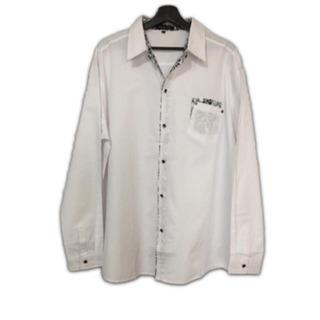 大きいサイズ 白シャツ 花柄 新品 5L 送料無料