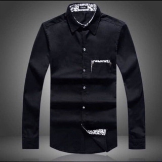 大きいサイズ 黒シャツ 花柄 新品 5L 送料無料