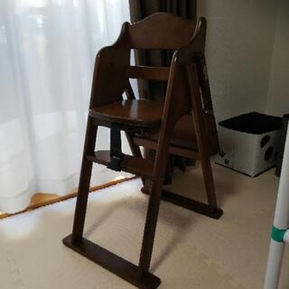 終了しました。お食事用 椅子 ミニテーブル付き ダークブラウン