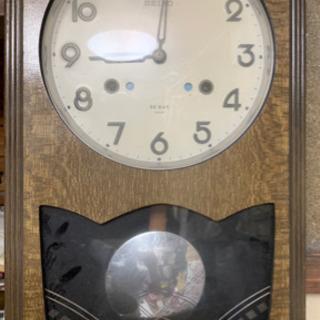 昭和レトロ、SEIKO、1か月巻掛時計、ジャンク品