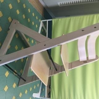 調節可能 木製 椅子 中古 2年使用 子ども