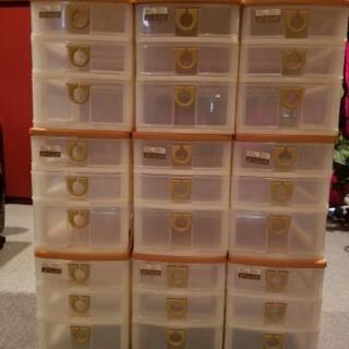 小物収納ケース3段×9個。お値下げしました。の画像
