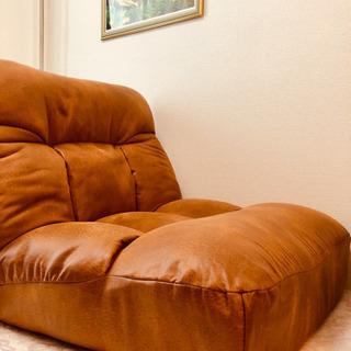 ツナガルポケットコイル座椅子 マチエHP キャメル