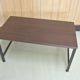 木製 角丸ローテーブル ブラウン