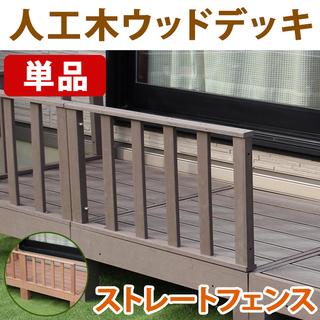 【未使用】人工木ウッドデッキ用 ストレートフェンス TAN…