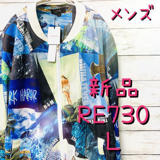 メンズ【RE730】コラージュプリントビッグシルエットMA1 ボ...