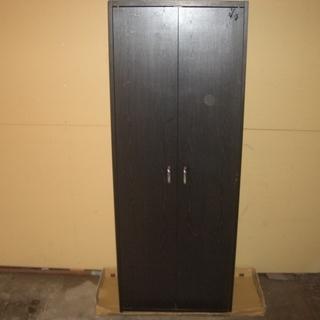 黒色 扉付き6段棚さしあげます。