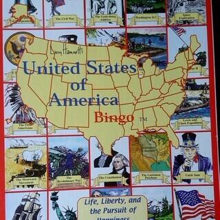 英語 アメリカ歴史・名所・人物 Bingo