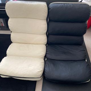 座椅子 ホワイト売れました^ ^ ブラックのみです!