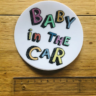Baby in the car ステッカー