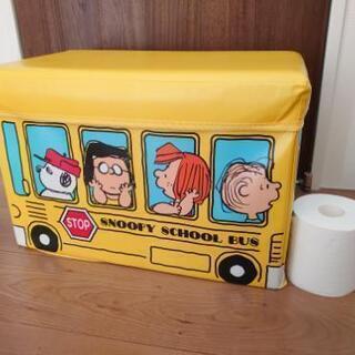 スヌーピー バス型ストレージボックス