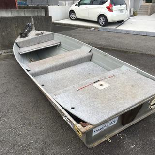 愛媛県松山市引取限定アルミボート・書類無し・長さ約365cm前後...