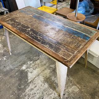 ハンドメイド 古材 インダストリー テーブル 作業台 古木 廃材