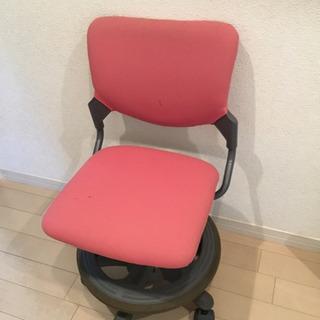 勉強用 椅子 ピンク