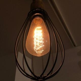 天井照明 インダストリアル風 エジソンバルブ電球付き