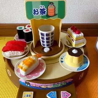 おもちゃ 模型 くるくる 回転寿司 ガチャガチャ