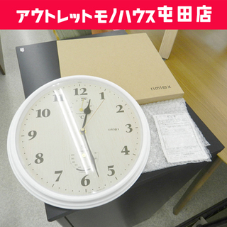壁掛け時計 温湿度計付き ウォールクロック リムレックス W-6...