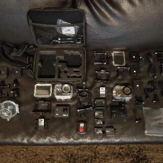 ウェアラブルカメラ・360℃カメラ3台セット GoPro互換パーツ付き