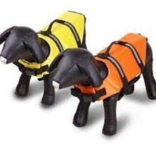 セール 格安。犬用 ライフジャケット XL 新品 オレンジ イエロー