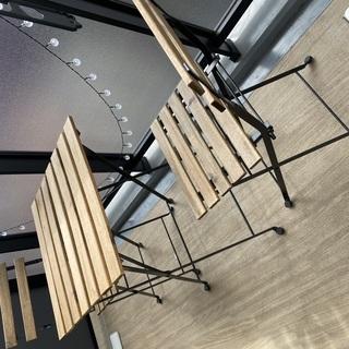 【差し上げます】イケア TARNO テーブル&チェア2脚