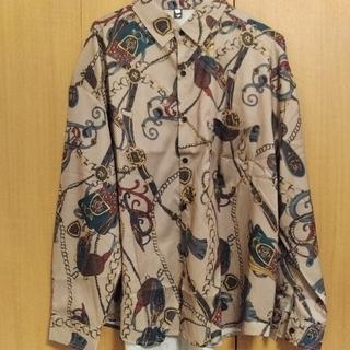 レトロ総柄シャツ Lサイズ 長袖