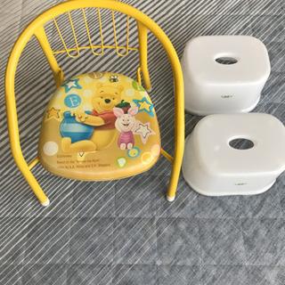 ☆くまのプーさん ベビーチェア&ミニお風呂用椅子2個