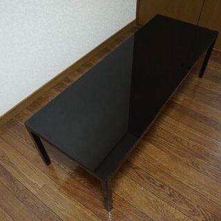センターテーブル ブラック ガラス モダン