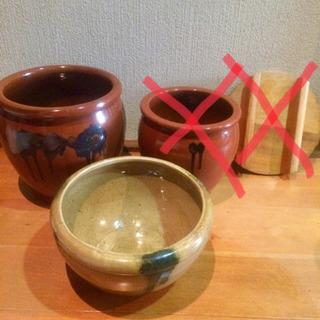 漬物の甕(かめ)壺 2種類あり<引き取り限定>