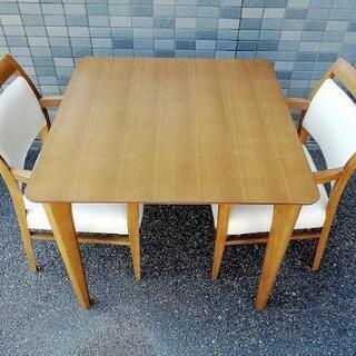 ◼️お買得◼️ニトリ ロレイン3 ダイニングテーブル3点セ…