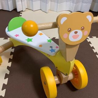 【ネット決済】幼児 ベビー用 玩具 木製 4輪車 マザーガーデン...
