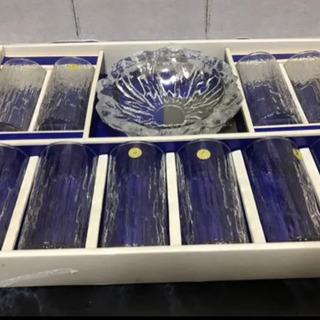 HOYAクリスタル グラス 10客 皿1枚 セット