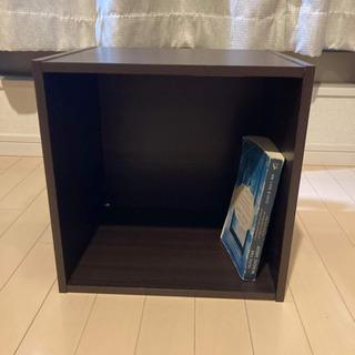 受付終了 [譲ります] 木製正方形ボックス