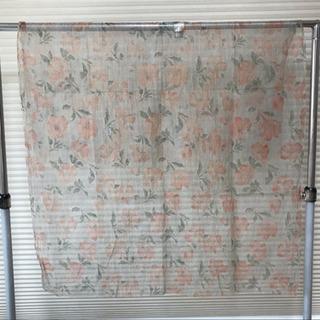ハギレ シースルー 絞り生地 大きな花柄 巾102㎝×長さ160㎝