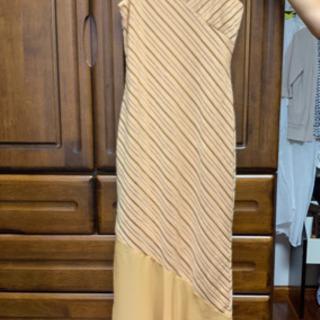 スリップドレス キャメルカラー