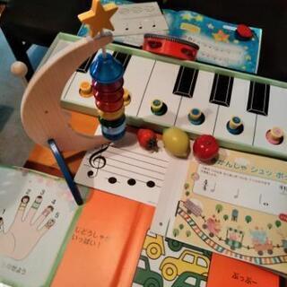 プレピアノ楽しく音感リズム感   ドレミ絵カードや音階段ベル🔔