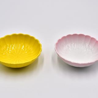 【値下げ】菊型小鉢 介護食器 強化磁器 二個セット