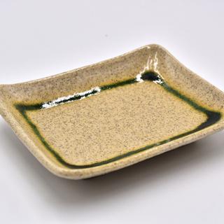 【値下げ】介護食器 角皿 強化磁器