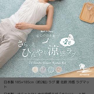 定価11800円  日本製  接触冷感ラグ  ミント 18…