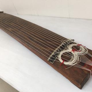 特価品!◆和琴◆13弦琴 和楽器 蒔絵あり 全長178cm カバー付き